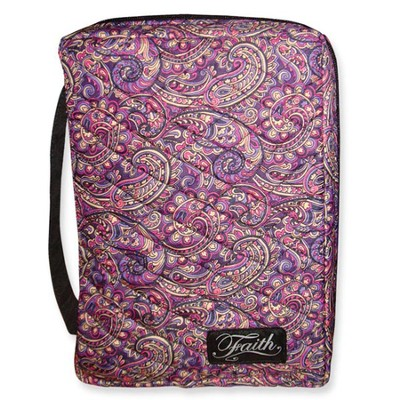 Faith Quilted Bible Cover, Purples Tones, Extra Large  -