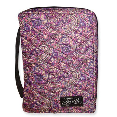 Faith Quilted Bible Cover, Purples Tones, Large  -
