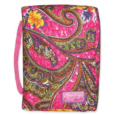 Amazing Love Quilted Bible Cover, Pink Tones, Extra Large  -