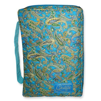 Grace Quilted Bible Cover, Blue Tones, Extra Large  -
