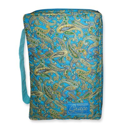 Grace Quilted Bible Cover, Blue Tones,. Large  -