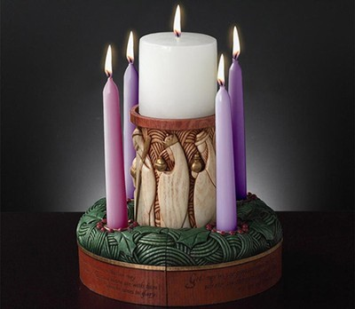 Enesco Pillars Advent Wreath 5 piece set  -
