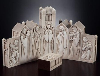 Pillar Cathedral Nativity Set, 8 pieces   -