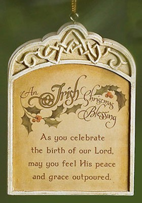 Irish Blessing Ornament  -
