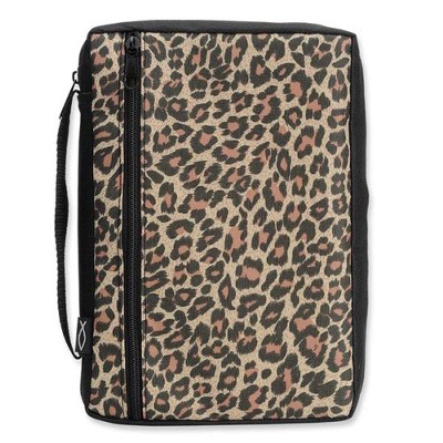Leopard Bible Cover, Large  -