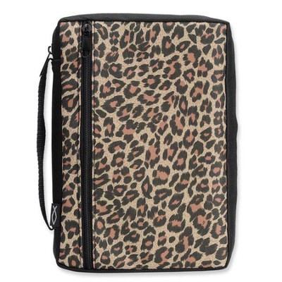 Leopard Bible Cover, Medium  -