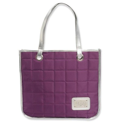 Tote with Crown Accent, Purple   -