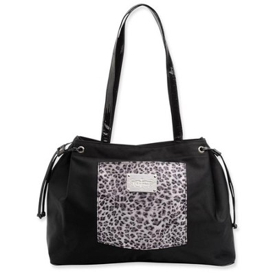 Tote with Inspirational Accent, Black and White  -