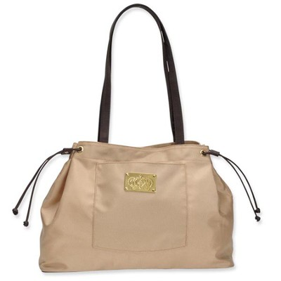 Tote with Crown Accent, Gold  -