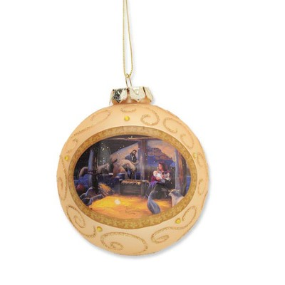 Thomas Kinkade Nativity Ball Ornament  -     By: Thomas Kinkade
