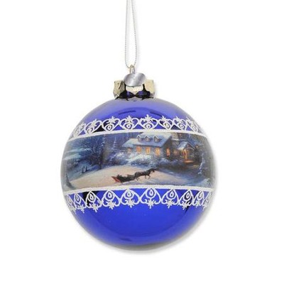 Thomas Kinkade Sleigh Ride Ball Ornament  -     By: Thomas Kinkade