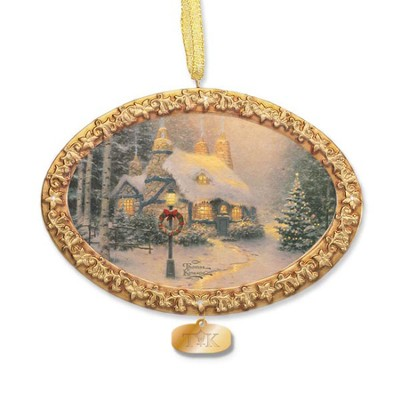 Thomas Kinkade, Stone Hearth Hutch Ornament  -     By: Thomas Kinkade