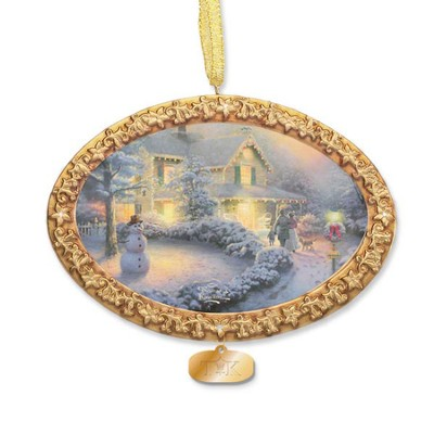 Thomas Kinkade, Heart of Christmas Ornament  -     By: Thomas Kinkade