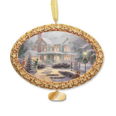Thomas Kinkade, Victorian Family Christmas Ornament  -     By: Thomas Kinkade
