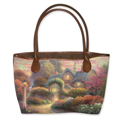 Rosebud Cottage Tote, Thomas Kinkade  -     By: Kinkade Thomas