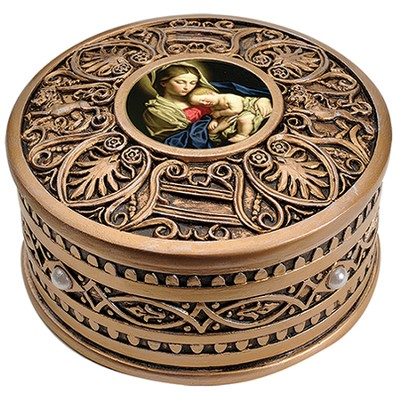 Rosary Box, Madonna and Child  -