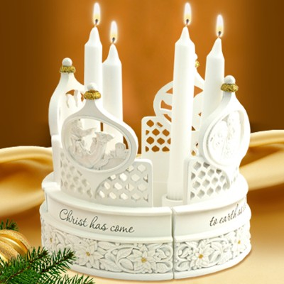 Christ Has Come to Earth Candle Centerpiece  -