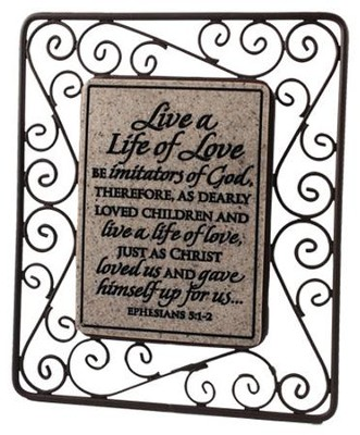 Live a Life of Love Plaque  -