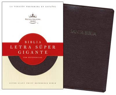 Biblia Letra Super Gig. con Ref. RVR 1960, Piel Fab. Rojiza Ind.  (RVR 1960 Super Gtpt. Ref. Bible, Burgundy Bond. Leather I.)  -     Edited By: B&H Espanol Editorial Staff     By: B&H Espanol Editorial Staff
