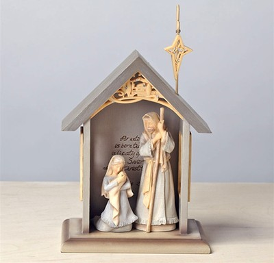 Foundations Holy Family with Stable   -     By: Karen Hahn