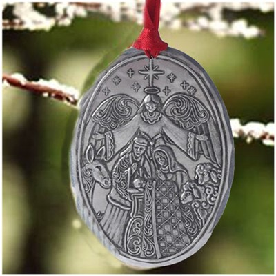 Holy Family Metal Hanging Ornament, Jim Shore   -     By: Jim Shore