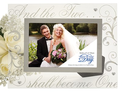 And, the Two Shall Become One Photo Frame  -