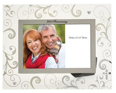 25th Anniversary Glass Photo Frame  -