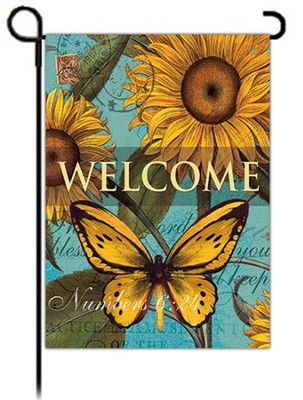 Welcome, Sunflowers Flag, Small  -     By: Linda Maron