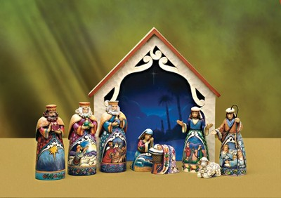 Heartwood Creek 9-piece Nativity Set   -     By: Jim Shore