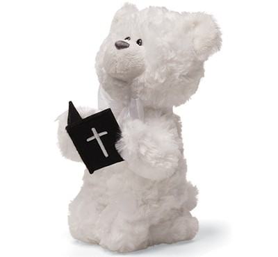 Praying Bear with Bible  -