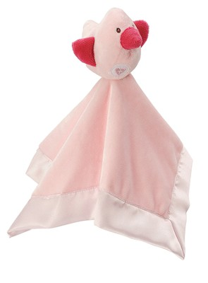 Heaven Sent Snuggle Blankie, with Bird, Pink  -