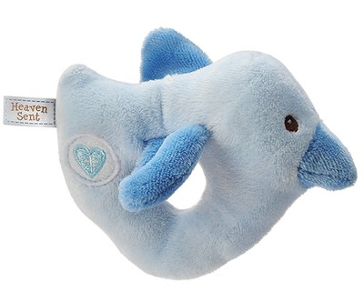 Heaven Sent Bird Rattle, Blue  -