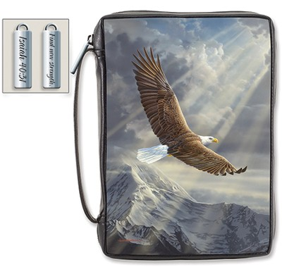 Find New Strength, Eagle Bible Cover, X-Large  -
