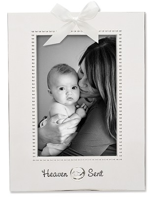 Heaven Sent Silverplate Photo Frame  -
