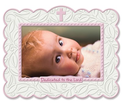 Dedicated To the Lord Photo Frame, Pink  -