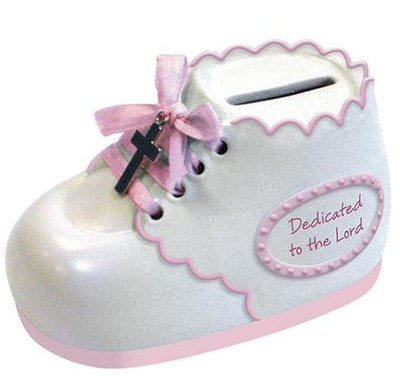 Dedicated To the Lord, Bootie Bank, Pink  -