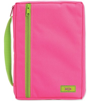 Neon Shades Canvas Bible Cover, Pink, Large  -