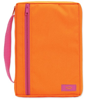 Neon Shades Canvas Bible Cover, Orange, Large  -