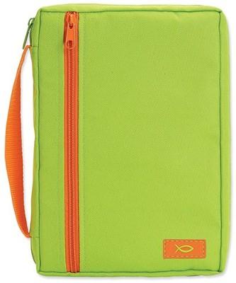 Neon Shades Canvas Bible Cover, Green, X-Large  -