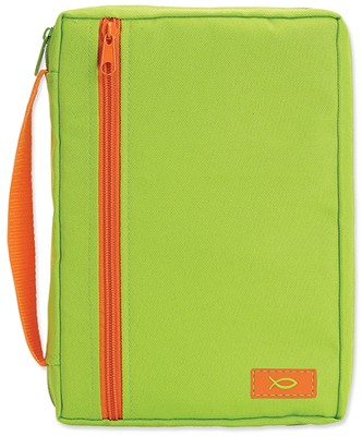 Neon Shades Canvas Bible Cover, Green, Large  -
