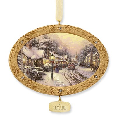Village Christmas, Ornament   -     By: Thomas Kinkade