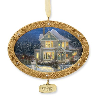 Holiday Cheer, Christmas Ornament   -     By: Thomas Kinkade