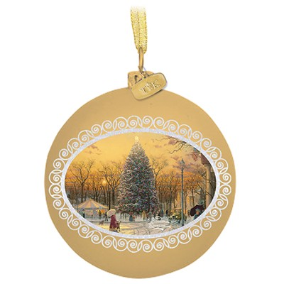Town Square Ornament  -     By: Thomas Kinkade