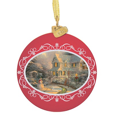 Night Before Christmas Ornament  -     By: Thomas Kinkade