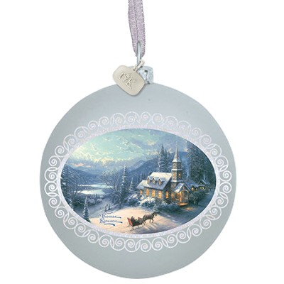 Sunday Evening Sleigh Ride Ornament  -     By: Thomas Kinkade