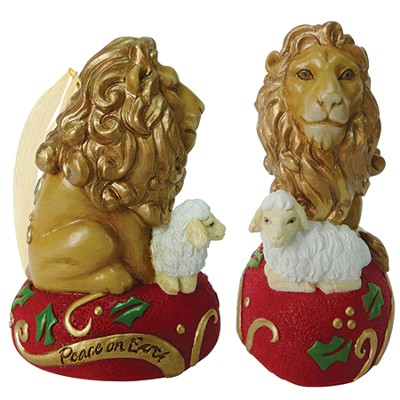 Lion and Lamb, Peace On Earth Ornament  -     By: Kim Lawrence