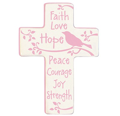 Faith Love Hope Wall Cross  -