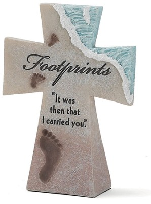 Footprints Tabletop Cross  -