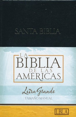 LBLA Biblia Letra Grande Tamano Manual, LBLA Hand Size Giant  Print Bible, Thumb-Indexed,  -     By: Holman Bible Editorial Staff