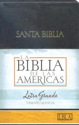 LBLA Biblia Letra Grande Tamano Manual, LBLA Hand Size Giant Print Bible, Black Imitation Leather,  -     By: Holman Bible Editorial Staff
